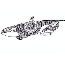 Kalia and Amaya Custom Henna Zentangle Drawing Photographic Print