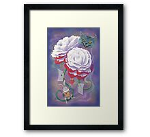 Painted Roses for Wonderland's Heartless Queen Framed Print