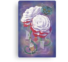 Painted Roses for Wonderland's Heartless Queen Canvas Print