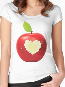 Red apple bite 2 Women's Fitted Scoop T-Shirt