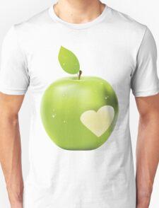 Heart bite green apple T-Shirt