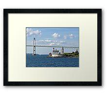 Lighthouse at Rose Island, Newport, Rhode Island | Bay series 2008 Framed Print