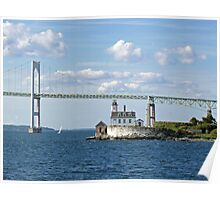 Lighthouse at Rose Island, Newport, Rhode Island | Bay series 2008 Poster