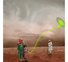 Basant Sonic Kite Flying near Mons Olympus Photographic Print