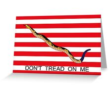 Don't Tread On Me - First Navy Jack Greeting Card