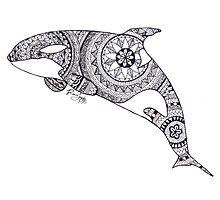 Katina Custom Henna Zentangle Drawing Photographic Print