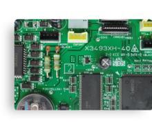 Electronic circuit board Canvas Print