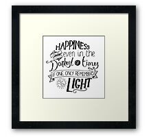 Happiness can be Found Framed Print
