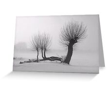 Weeping winter willow Greeting Card