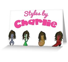 The Mighty Boosh – Styles by Charlie Greeting Card