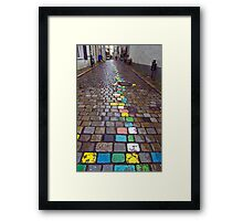 Colored Brick Road Framed Print
