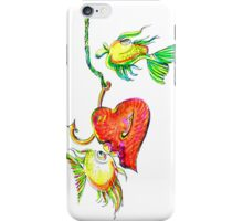Fishing With Heart iPhone Case/Skin