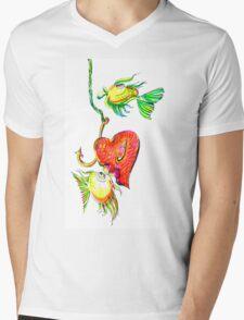 Fishing With Heart Mens V-Neck T-Shirt