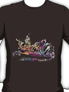 Colored cat James T-Shirt