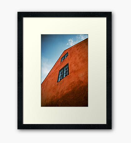 House in Nyboder, Copenhagen, Denmark Framed Print