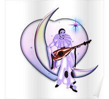 Valentine's Day Pierrot Moon Poster