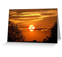 Sunset Silhouette Greeting Card