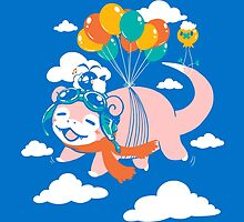 Flying Slowpoke by miskiart