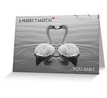"""SOLD""     A PERFECT MATCH - YOU AND I Greeting Card"