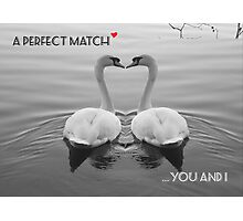 """SOLD""     A PERFECT MATCH - YOU AND I Photographic Print"