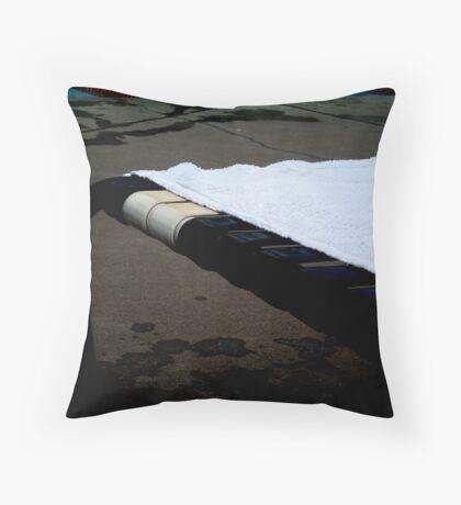 The Suntanning Chair. Throw Pillow