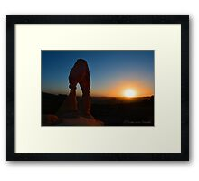 Sunset Delicate Arch Photographic Print Framed Print