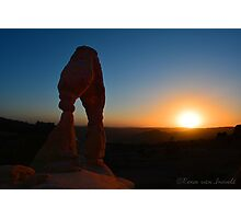 Sunset Delicate Arch Photographic Print Photographic Print