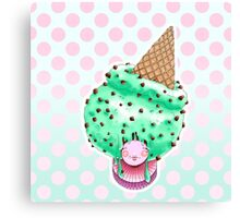 Doll faced dearies, Miss Minty choco chip  Canvas Print
