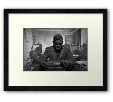Turing Sculpture Framed Print