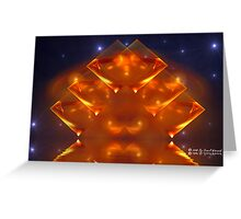Spacey -Abstract: Squares Reflection Greeting Card