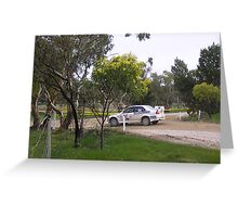 evo lancer Adelaide rally 2008 Greeting Card