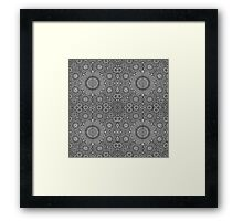 Gray Mosaic Framed Print