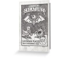 Strange Creatures Greeting Card