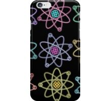 Gold - Silver Atomic Structure pattern iPhone Case/Skin