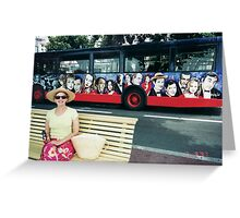 Bus Stop in Cannes Greeting Card
