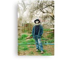 Gas Mask Boy Canvas Print