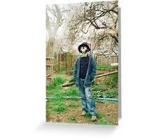 Gas Mask Boy Greeting Card