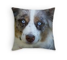Ice Blue Eyes Throw Pillow