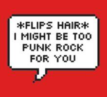 Too Punk Rock Text Bubble T-Shirt