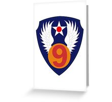 9th Air Force  WWII  USAAF Greeting Card