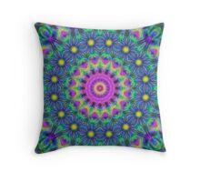 Kaleidoscope Like a Peacock #2 Throw Pillow