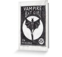 Vampire Bat Girl Greeting Card