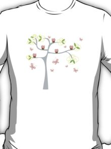 Whimsical Pink Cupcakes Tree T-Shirt
