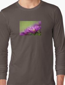 Dewy Purple Asters Long Sleeve T-Shirt
