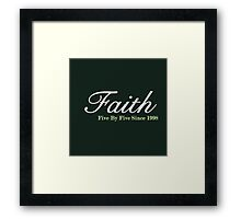 Faith Since - Light Framed Print