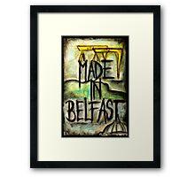 Made in Belfast oil pastel Framed Print