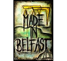 Made in Belfast oil pastel Photographic Print