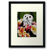 Frangipani Party Framed Print