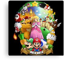 Composition - Mario world Canvas Print