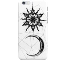 Dotwork Sun and Moon White iPhone Case/Skin